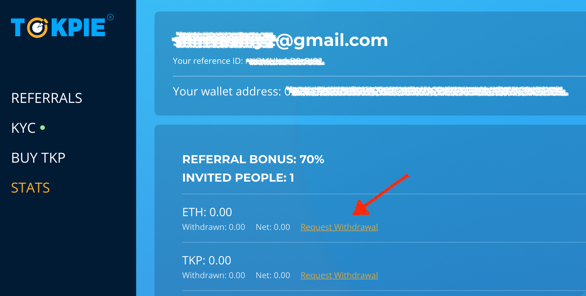 withdraw referral income