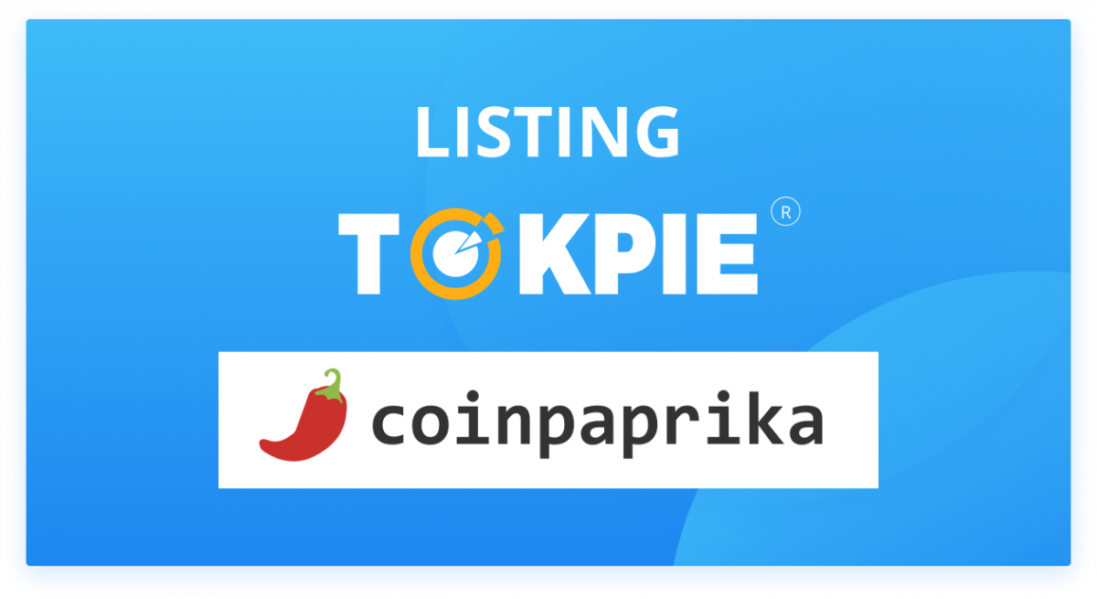 TOKPIE Exchange Listed on Coinpaprika