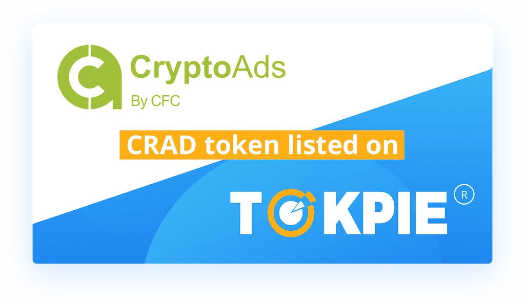 CryptoAds (CRAD) Token Listed on Tokpie