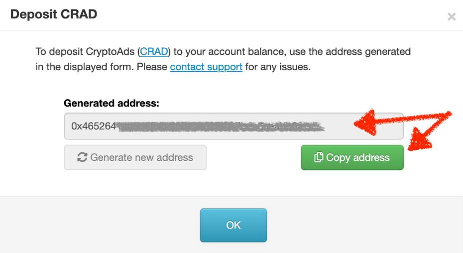 CRAD depositing