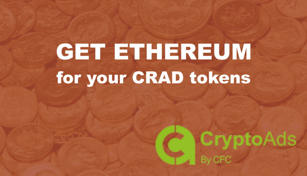 How to Get ETH for CRAD Tokens