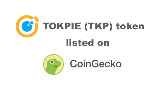 Tokpie TKP token is now on CoinGecko