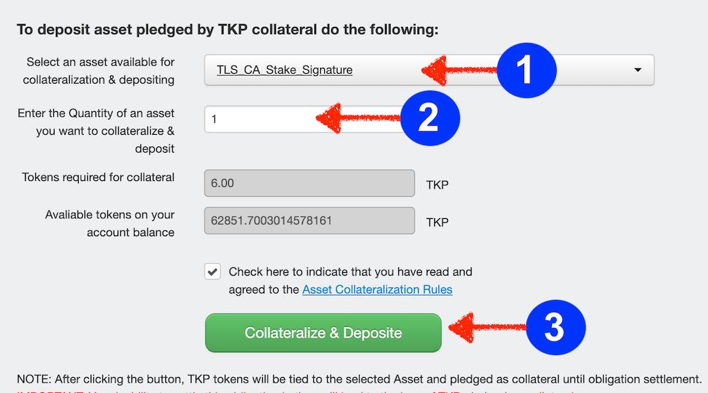 TLS Bounty stakes depositing