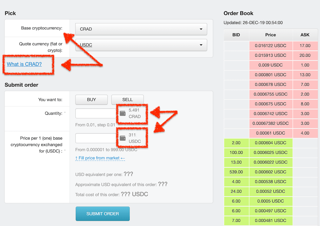 cryptocurrency exchange order book