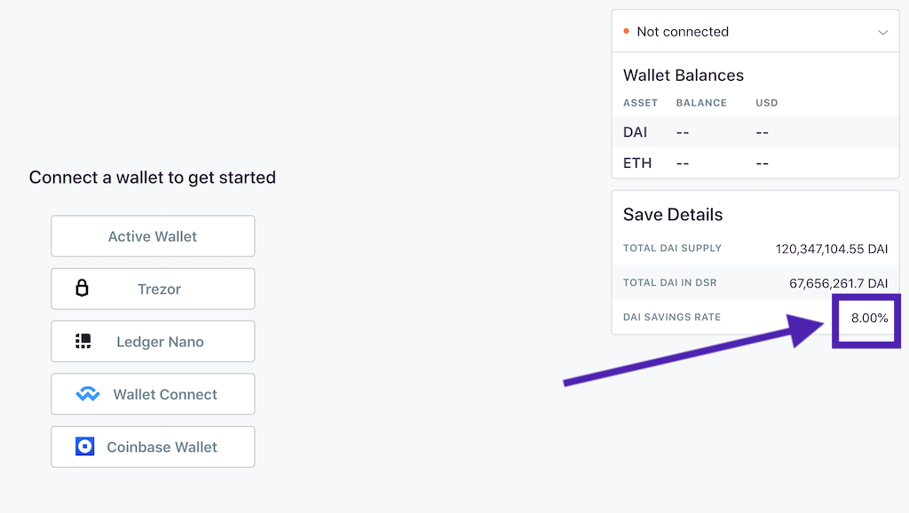 Oasis platform allows to save DAI