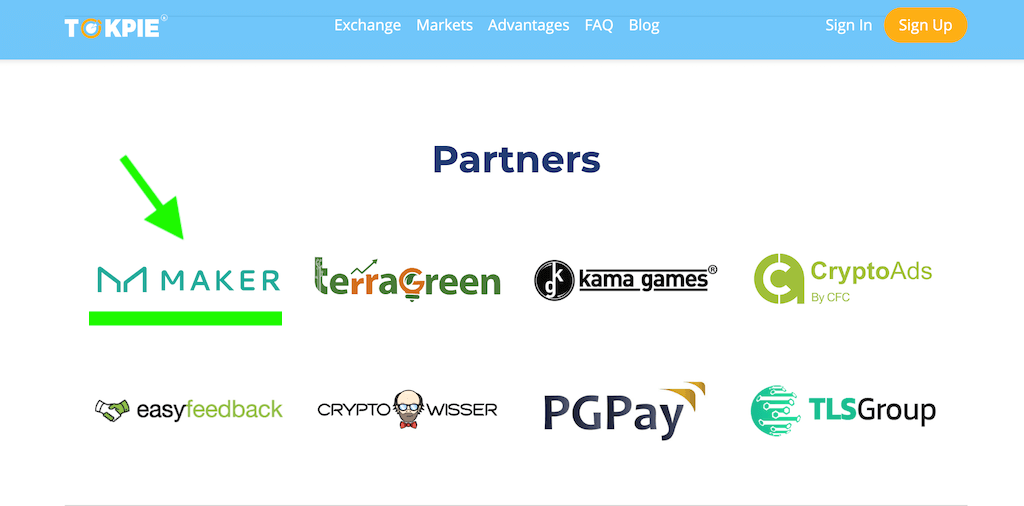 Maker partners Tokpie