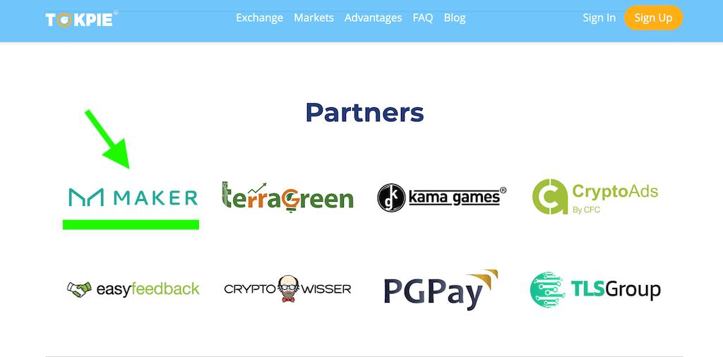 Maker partners Tokpie