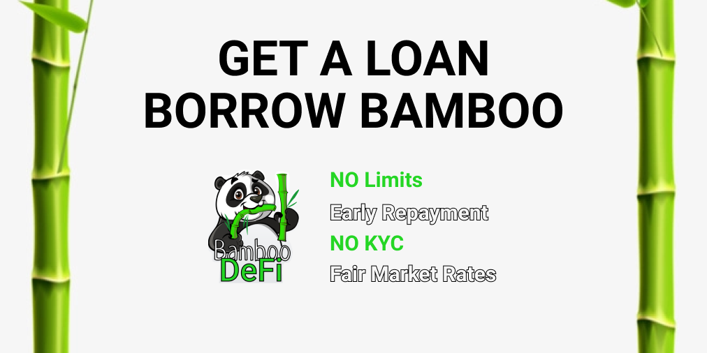How to Get Cash Without Cashing Out BAMBOO tokens?