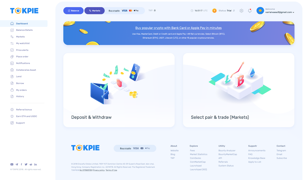 Meet Tokpie's New Interface: UX/UI and mobile version