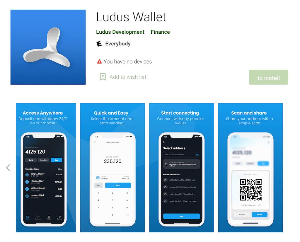 Ludus's mobile app