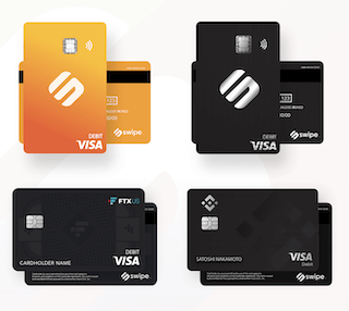 Bank cards from Swipe
